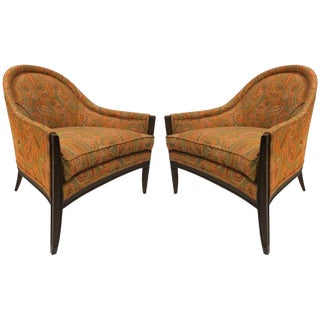 Pair Mid Century Modern Lounge Chairs For Sale