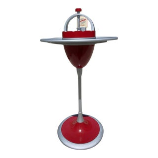 Art Deco Machine Age Cast Iron Standing Ashtray For Sale