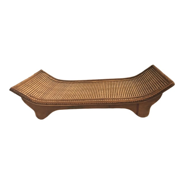 Contemporary Asian Style Carved Wood Display Stand/Tray For Sale