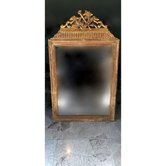 1750 French Louis XVI Gold Leaf Wood Mirror For Sale - Image 13 of 13