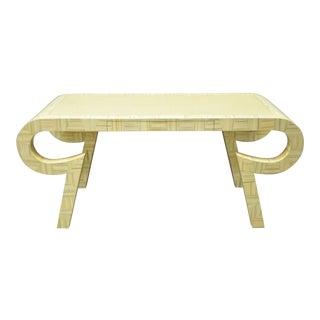 Allesandro Baker Karl Springer Style Cream Console Table