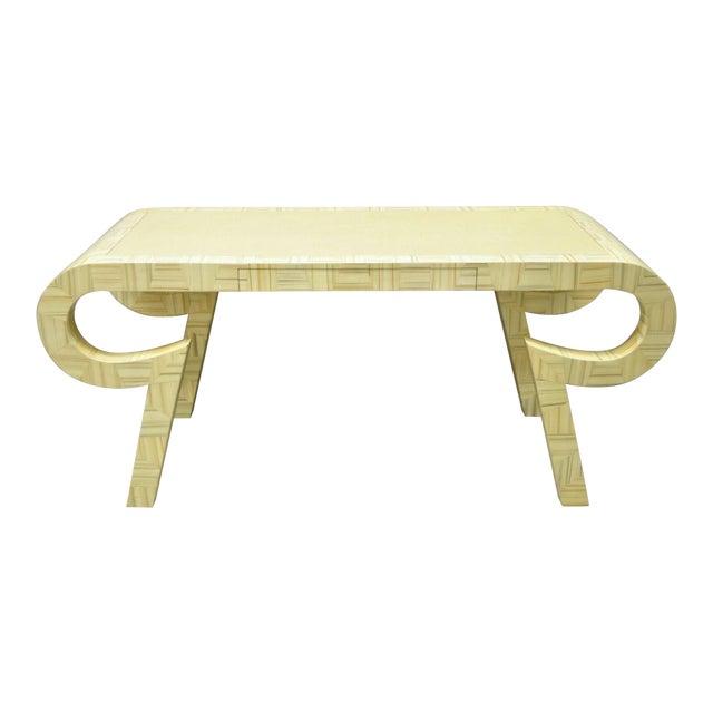 Allesandro Baker Karl Springer Style Cream Console Table For Sale
