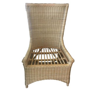 Vintage Style Maine Cottage Wicker Chair