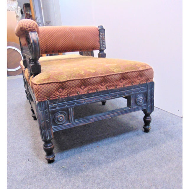 Wood Victorian Eastlake Style Tete A' Tete Settee For Sale - Image 7 of 9