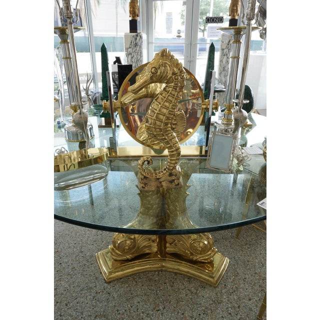 Vintage Seahorse Figure Doorstop in Polished Brass For Sale - Image 10 of 12