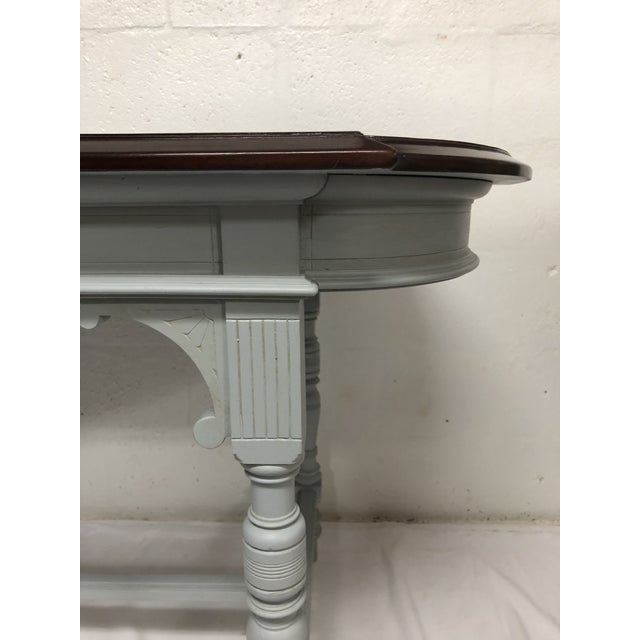 19th Century Italian Polished Rosewood Veneer on Top With Painted Wood Base For Sale In West Palm - Image 6 of 9
