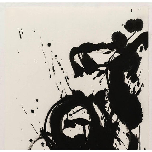 "Japanese Ayan Rivera "" Symphony"" Sumi Ink Original For Sale - Image 3 of 6"