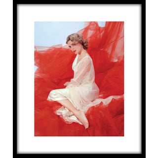 "1954 ""Grace Kelly in Nightgown"" Framed Print"
