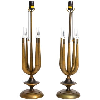 Pair of Tommi Parzinger Style Table Lamps For Sale