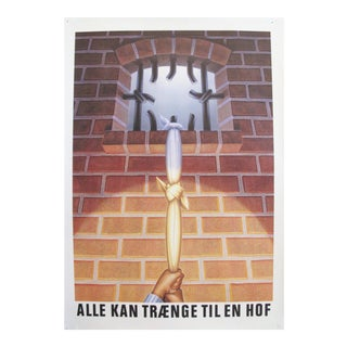 Original 1980's Danish Design Poster, Jailbreak