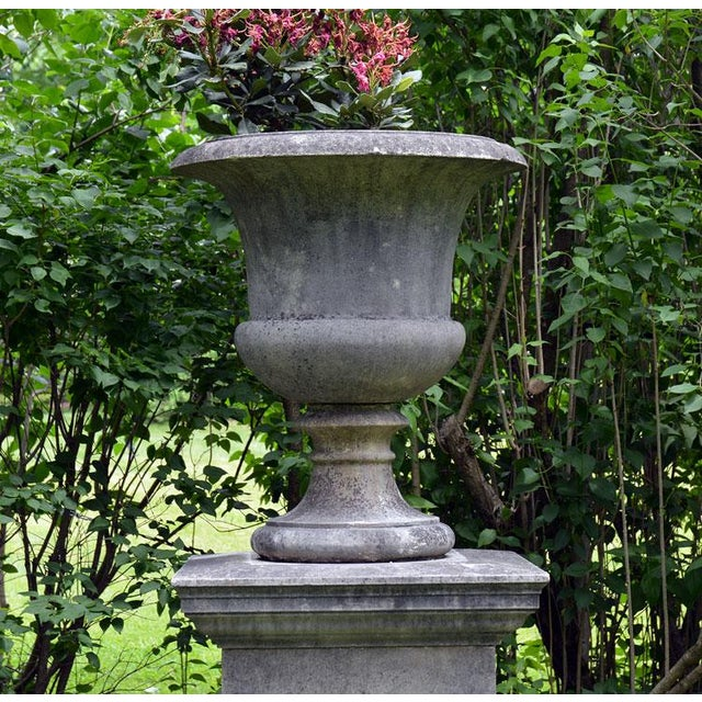 Large Stone Urns on Pedestals - Image 8 of 9