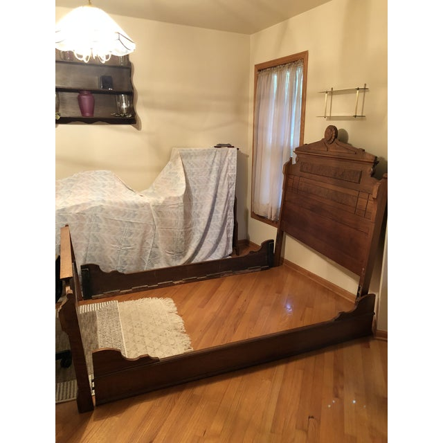 Mid-Century Modern Eastlake Style Bedframe Custom Mattress and Box Spring For Sale - Image 3 of 3