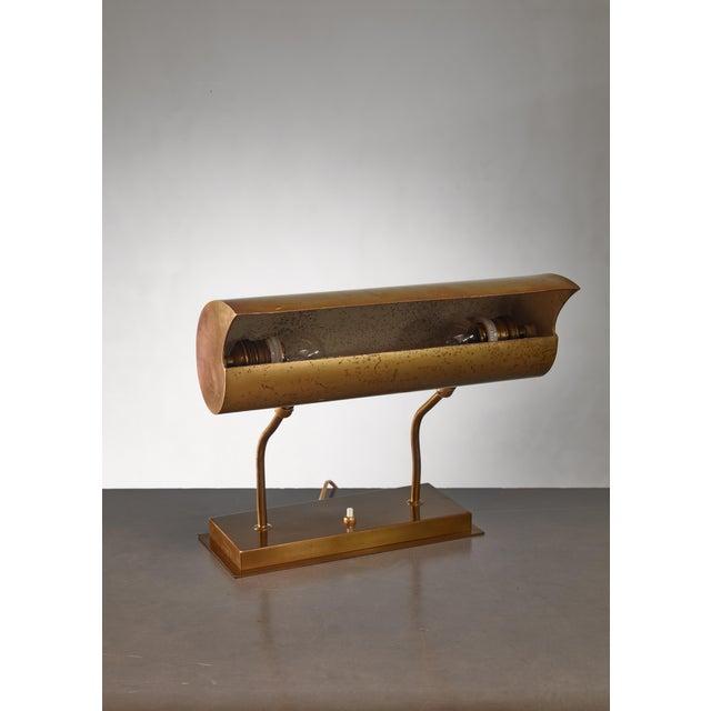 Angelo Lelli Brassdesk Lamp for Arredoluce, Italy For Sale - Image 9 of 10