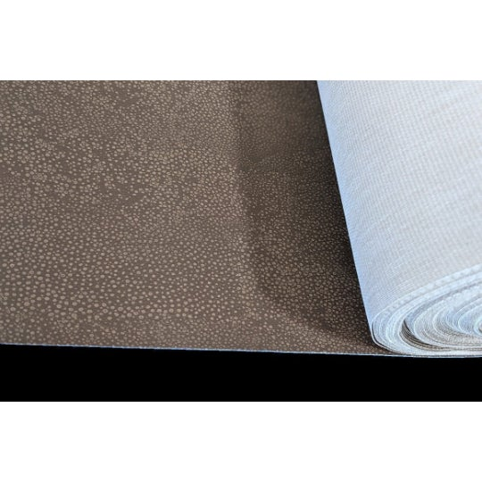 Contemporary Minimalist Brown Faux Shagreen Wallcovering For Sale - Image 3 of 3
