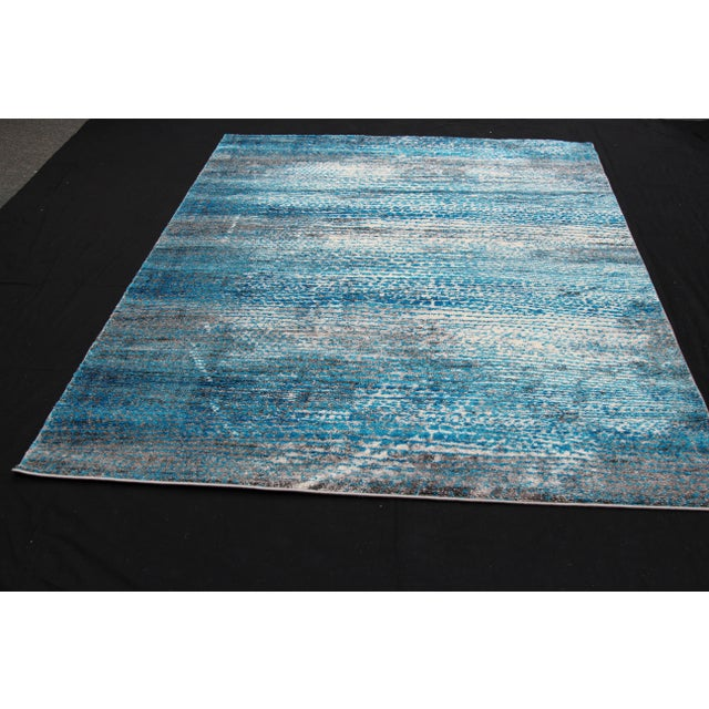 'Ocean' Blue Contemporary Rug 5'3''x 7'7'' - Image 4 of 5