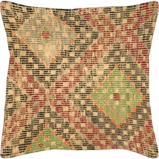 "Nalbandian - Turkish Cicim Pillow - 23"" X 23"" For Sale"
