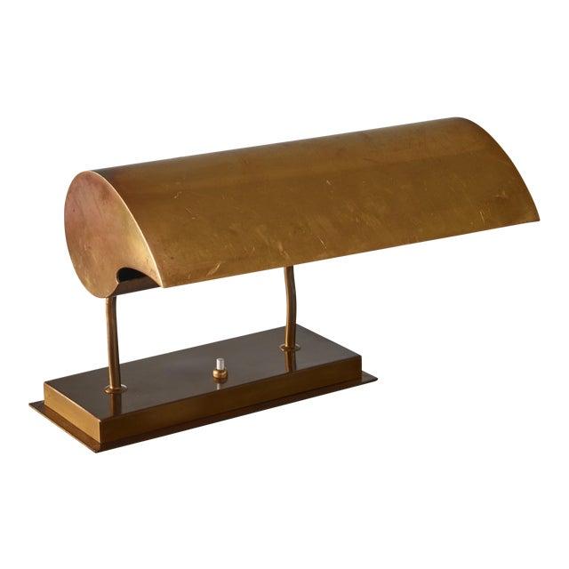 Angelo Lelli Brassdesk Lamp for Arredoluce, Italy For Sale