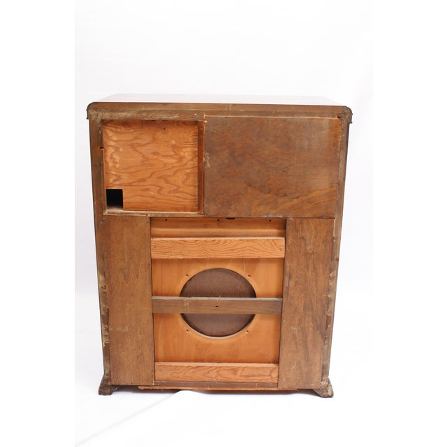 AntiqueUpcycled Radio to Bar Cabinet For Sale - Image 4 of 5