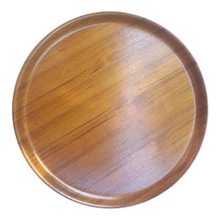 George Nelson Style Japan Serving Barware Teak Bentwood Tray For Sale