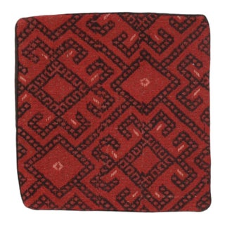 2000s Handwoven Turkish Kilim Face Accent Pillow Covers For Sale