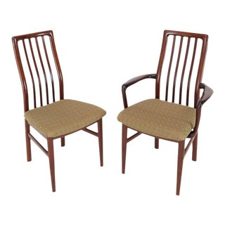 Danish Mid-Century Modern Rosewood Dining Chairs Two Armchairs - Set of 6 For Sale