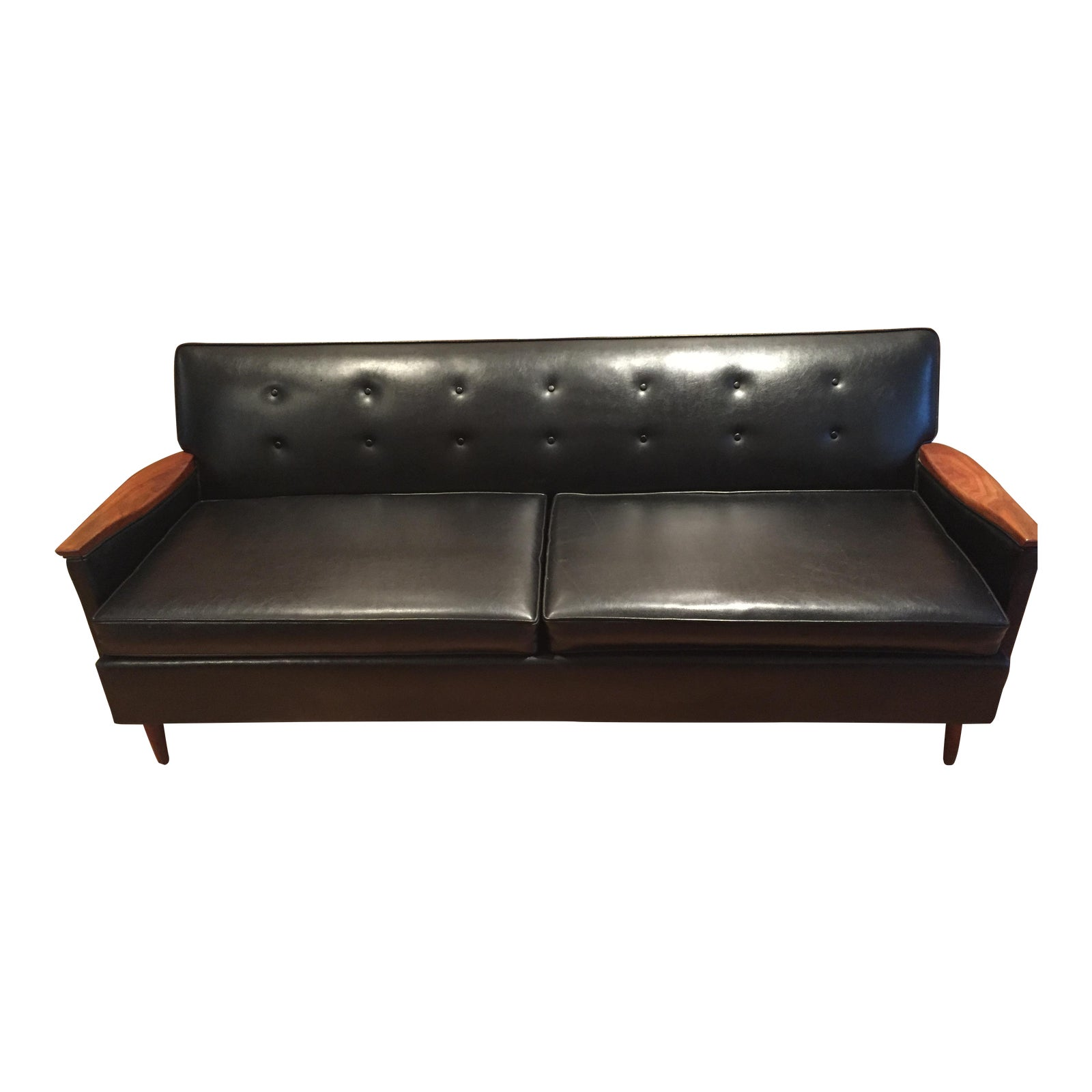 Enjoyable Mid Century Modern Era By Magnuson Black Sofa Machost Co Dining Chair Design Ideas Machostcouk