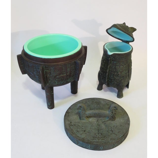Mayan Motif Ice Bucket & Pitcher - A Pair - Image 9 of 9
