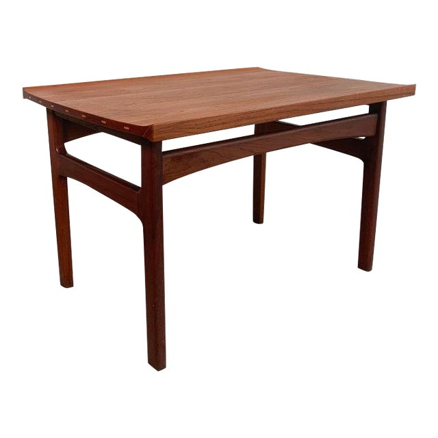 Teak Side Table by Tove and Edvard Kindt-Larsen for Dux For Sale