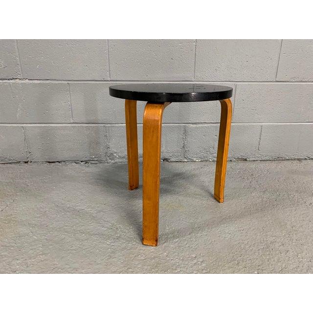 Wood 1930s Vintage Alvar Aalto Stool for Artek For Sale - Image 7 of 11