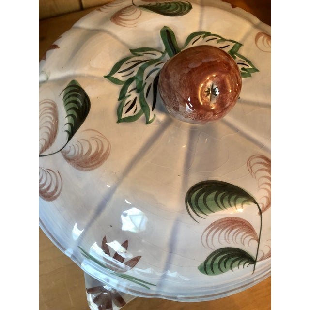 """Mid 20th Century Longchamp """"Blue Duck"""" French Faience Majolica Soup Tureen For Sale - Image 12 of 13"""