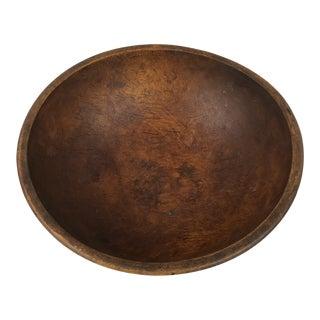 Mid Century Large Wooden Salad/Serving Bowl For Sale
