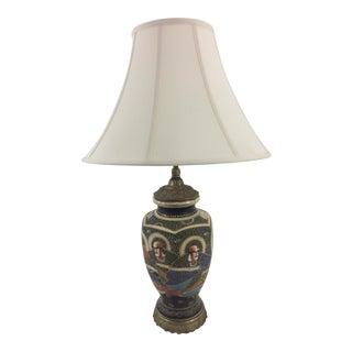 Japanese Satsuma Lamp For Sale