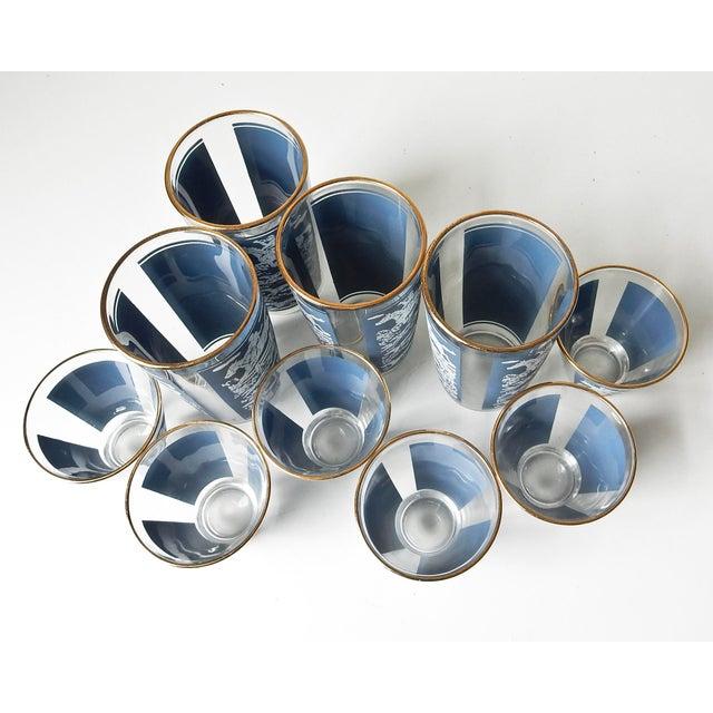 Anchor Hocking Vintage Cocktail Shaker and Glasses Set - Set of 11 For Sale - Image 4 of 10