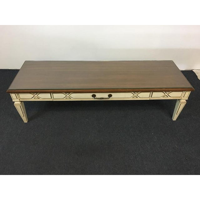 Drexel Heritage Rococo Style Painted Walnut Coffee Table Chairish