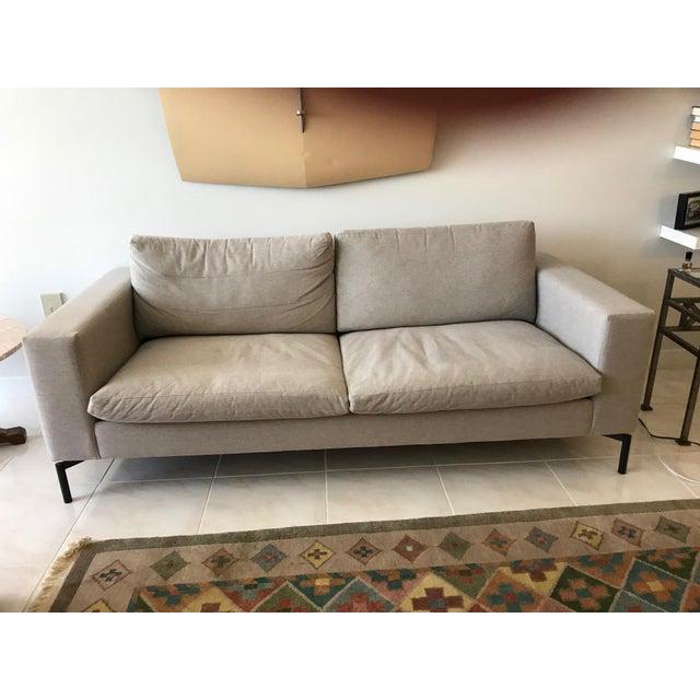 "Blu Dot Blu Dot Modern Light Gray Standard 78"" Sofa For Sale - Image 4 of 4"