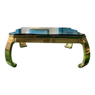 Rare Asian Inspired Brass Coffee Table by Karl Springer For Sale