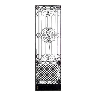 19 American Victorian style (19/20th Cent) iron gates with filigree multi-scroll design and lattice base (PRICED EACH) (similar to Inv. #030000-quanti
