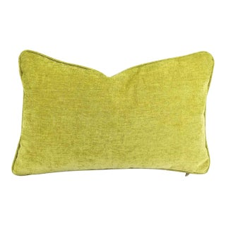 Jane Churchill Palma Lime Self-Welt Lumbar Pillow Cover For Sale