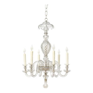 Six Arm Early Waterford Chandelier For Sale