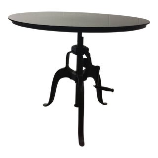 Americana Metal Crank Table For Sale