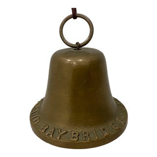 s.f. & Oakland Bay Bridge Commemorative Brass Bell C.1935 For Sale