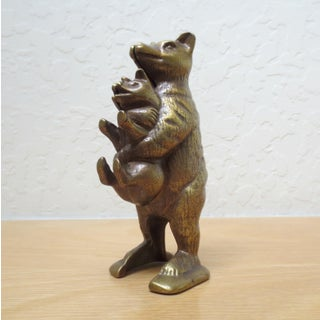 """Vintage Cast Iron """"Bear Stealing Pig"""" Bank Preview"""