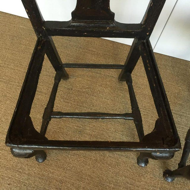 18th C. Lacquered Side Chairs - A Pair For Sale - Image 5 of 5
