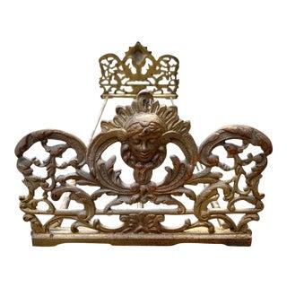 Antique Art Nouveau Expanding Brass Book Rack Bradley Hubbard For Sale