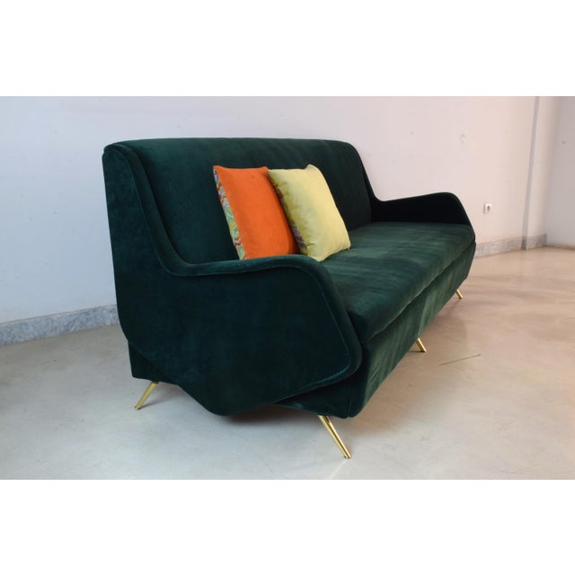Italian Vintage Midcentury Sofa, 1950s For Sale - Image 6 of 12