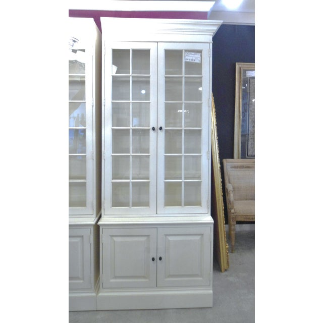 Glass Shelf White Bookcase - Image 3 of 5