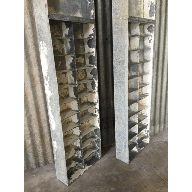Vintage Large Industrial Metal Storage Shelf Unit - Image 7 of 11