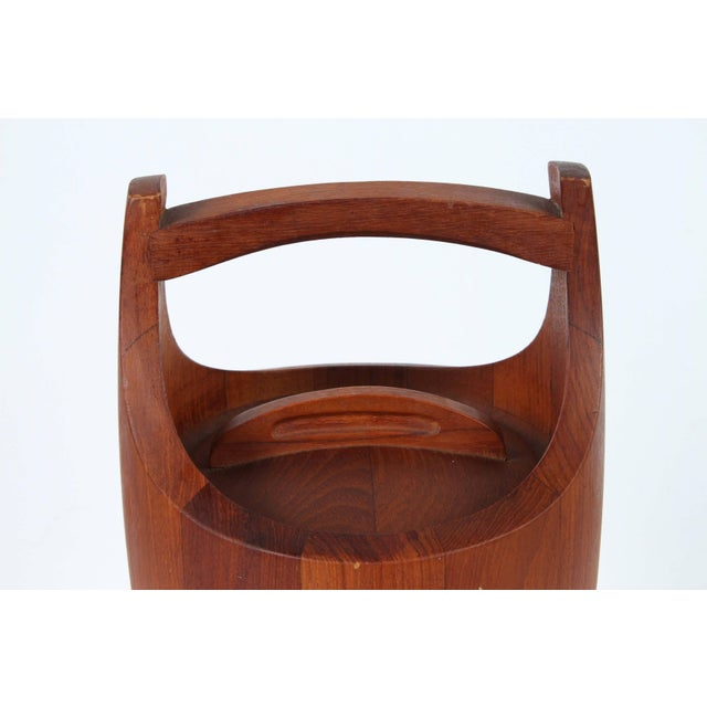 "Vintage Danish Mid-Century Modern teak ""Congo"" ice bucket designed by Jens Harald Quistgaard for Dansk, circa 1950. The..."