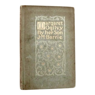1897 Art Nouveau Book, Margaret Ogilvy Book by Her Son, J.M.Barrie For Sale