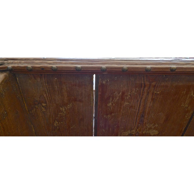 19th Century English Stained Pine Church Pew For Sale - Image 11 of 12